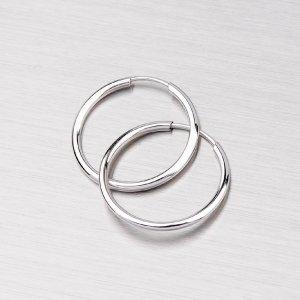 Kroužky z bílého zlata 15 mm 12-069