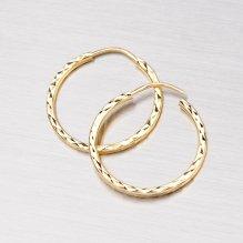 Kruhy ze žlutého zlata 18mm 12-064