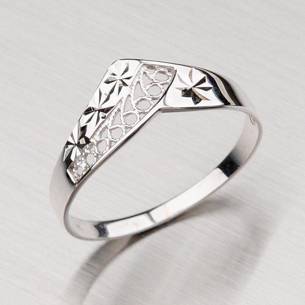 Prsten z bílého  zlata 1-1500
