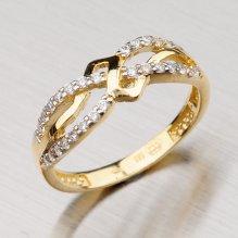 Prstýnek ze žlutého zlata 1-1512