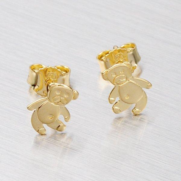Zlatý medvídek náušničky 113-1232