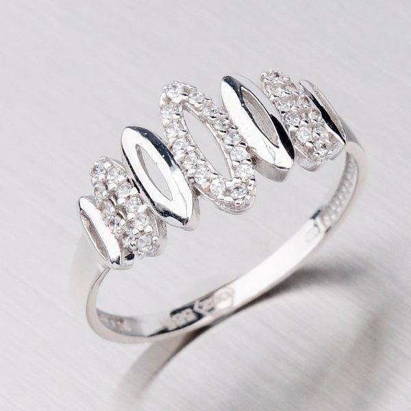 Prsten z bílého zlata 11-051
