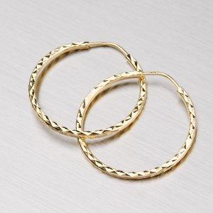 Gravírované náušnice kruhy 23 mm 12-008