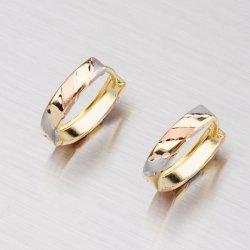 Zlaté oválky s gravírováním 12-004