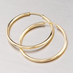 Zlaté kroužky 25 mm 12-050