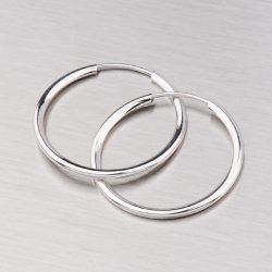 Kroužky z bílého zlata 20 mm 12-057