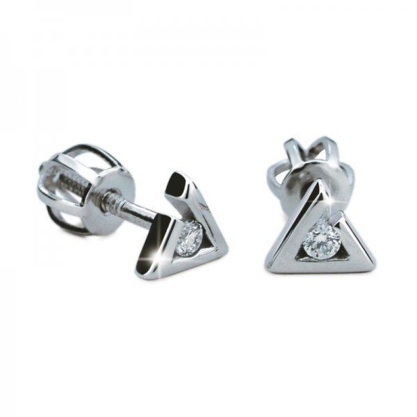 Dámské naušnice s diamanty DF1756
