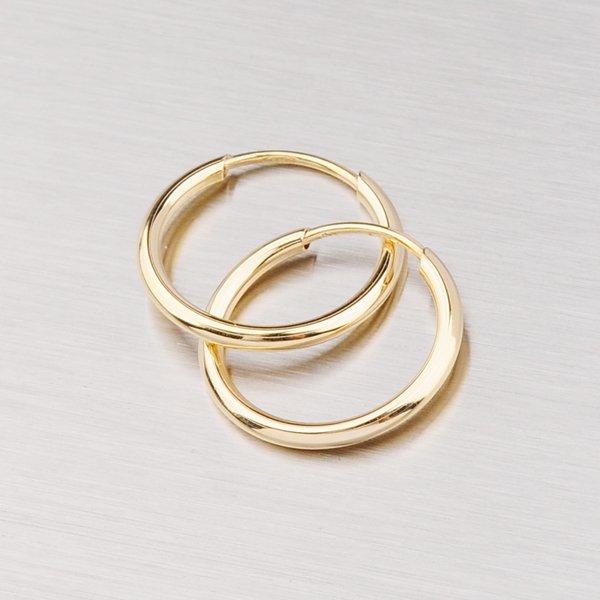 Náušnice - zlaté kroužky 12 mm 12-052