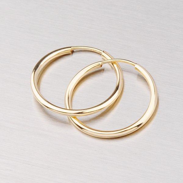 Kruhy ze žlutého zlata 20 mm 12-051