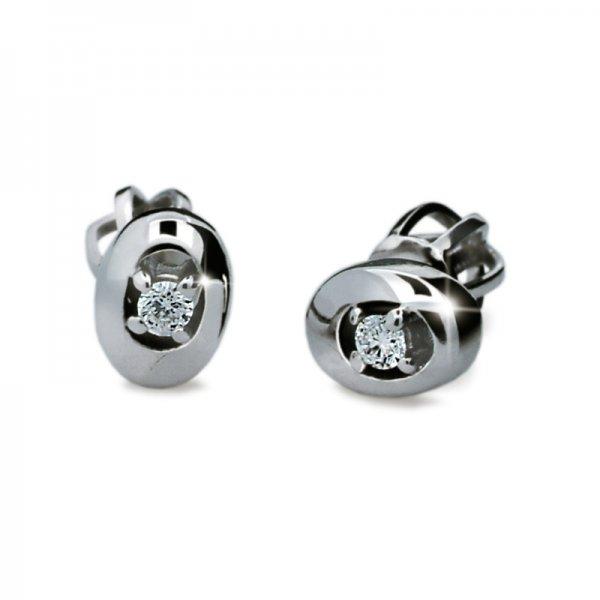 Dámské naušnice s diamanty DF1676