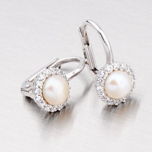 Náušnice s perlou 12-150