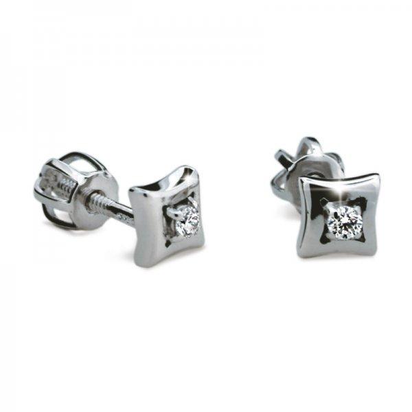 Dámské naušnice s diamanty DF1675