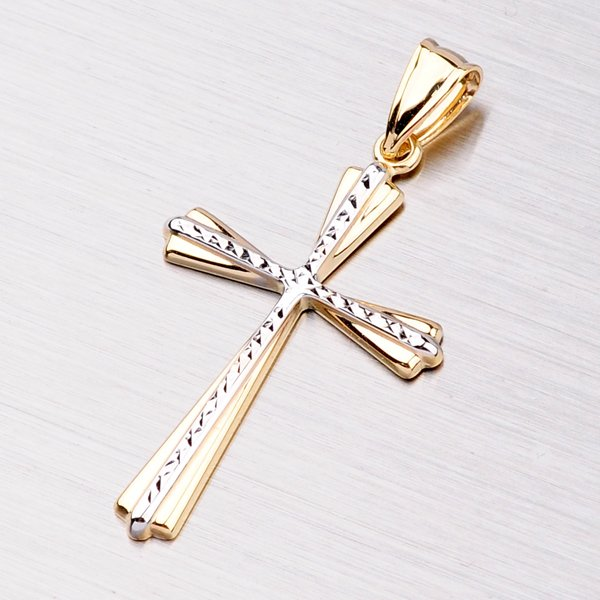 Kříž z kombinovaného zlata 13-081