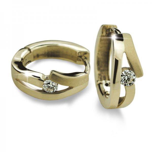Dámské naušnice s diamanty DF2026