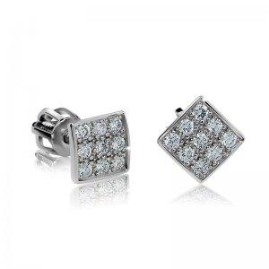 Dámské naušnice s diamanty DF2096