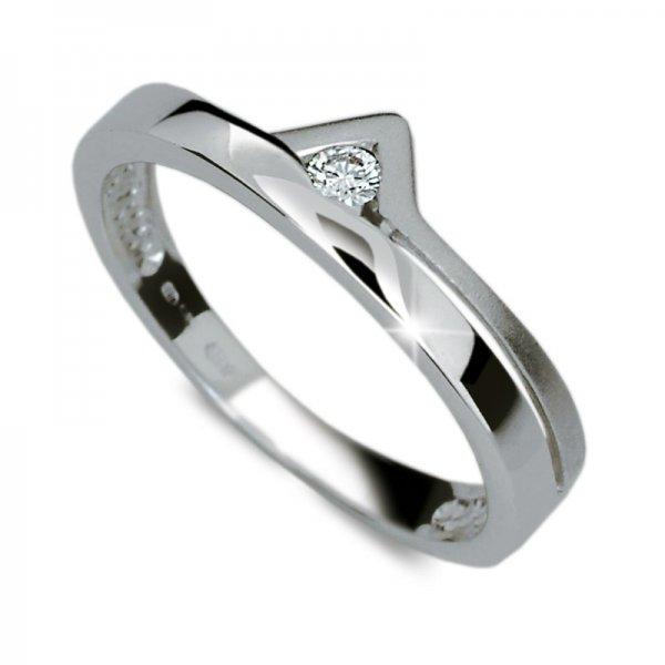 Prsten z bílého zlata DZ1565