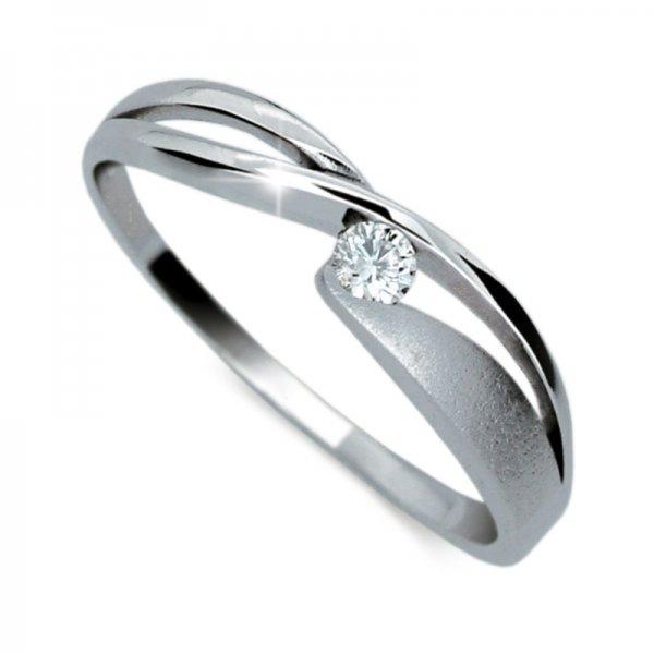 Prsten z bílého zlata DZ1721