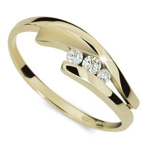 Prsten ze žlutého zlata DZ1750Z