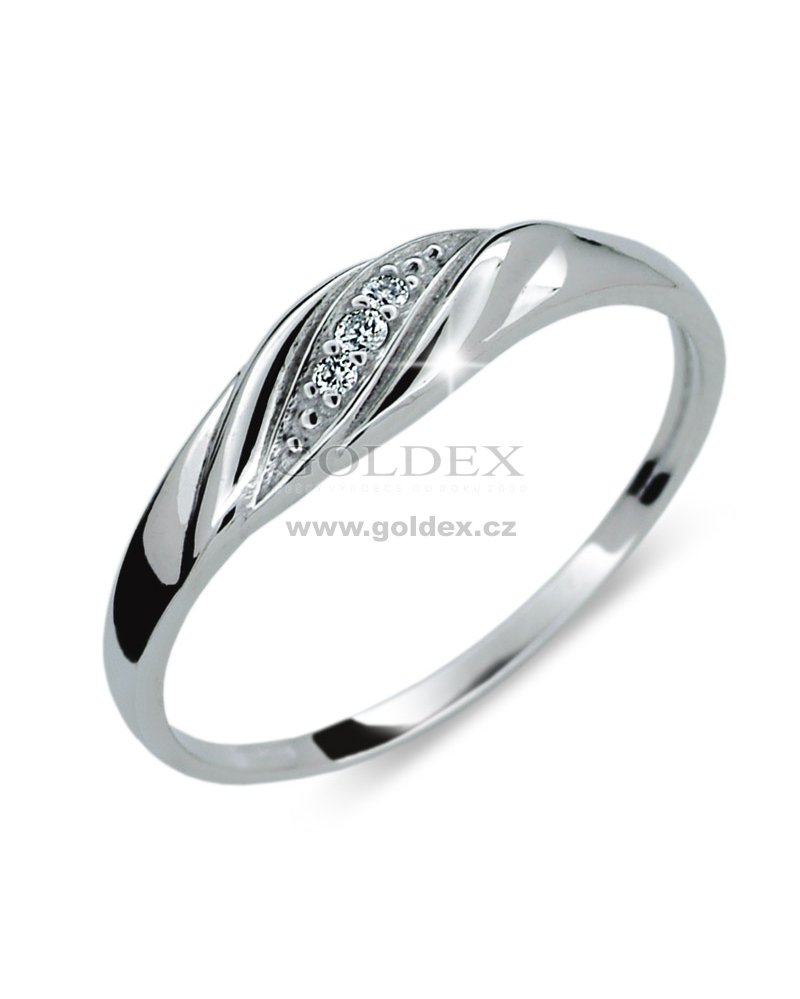 Damsky Prsten S Diamanty Df2084 Goldex Cz