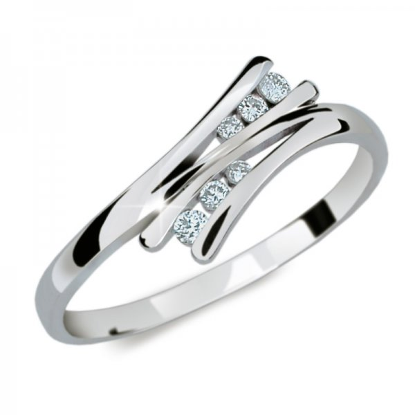 Zlatý prsten se zirkony DZ1950B