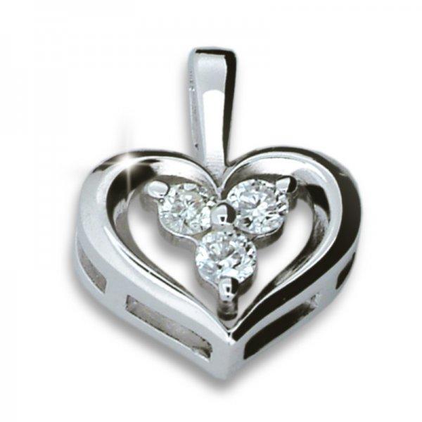Zlaté srdce se zirkony DZ1919