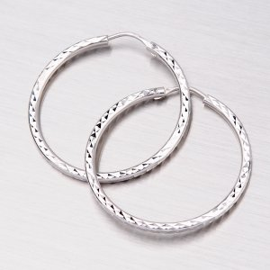 Zlaté kruhy gravírované 28 mm 12-067
