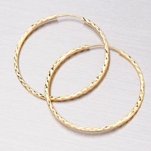 Zlaté kruhy 35 mm 12-063