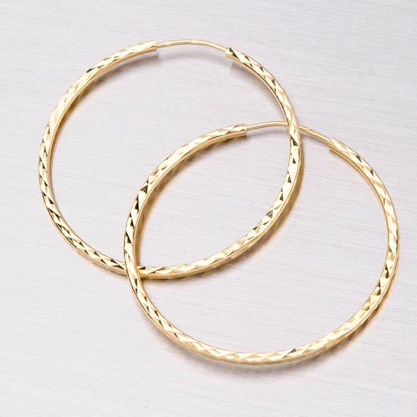 Zlaté kruhy 40 mm 12-063
