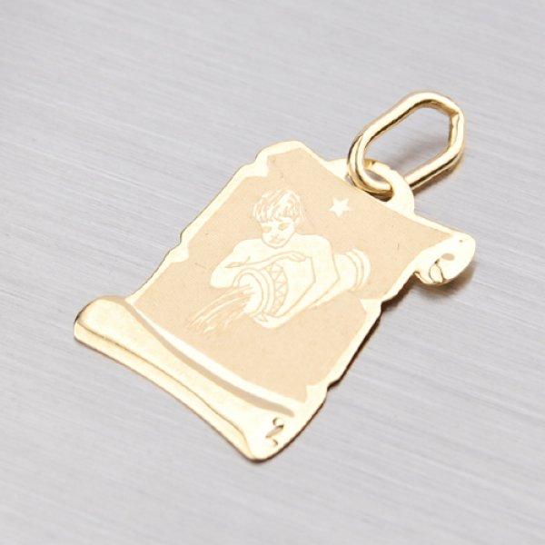 Zlatý přívěsek - Vodnář 2-280-11