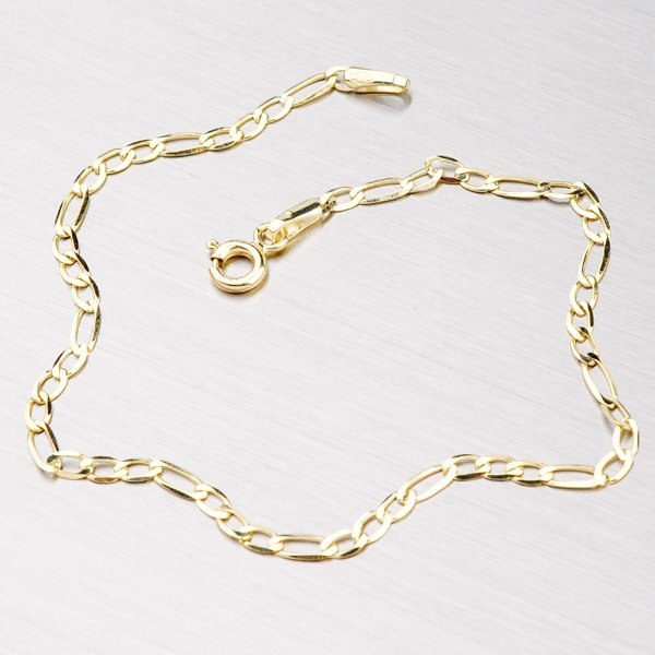 Zlatý náramek Figaro 3+1 44-1007