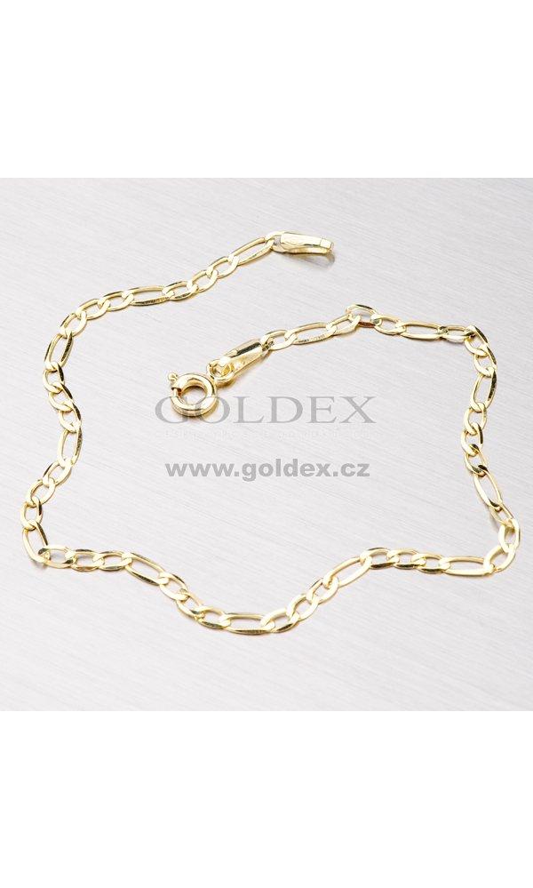 579aad8ac Zlatý náramek Figaro 3+1 44-1007 : Goldex.cz