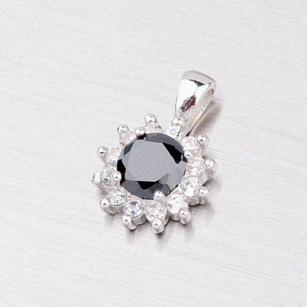 Stříbrný přívěsek s černým zirkonem YNG3003