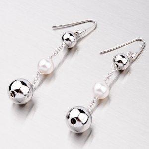 Visací náušnice s perlou YNG2022