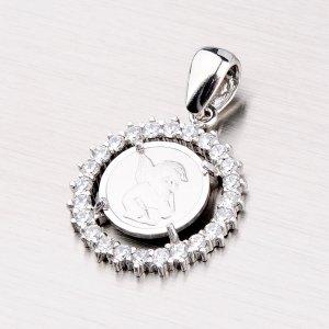 Stříbrný přívěsek andělíček se zirkony MPNZ5057ZSM-13