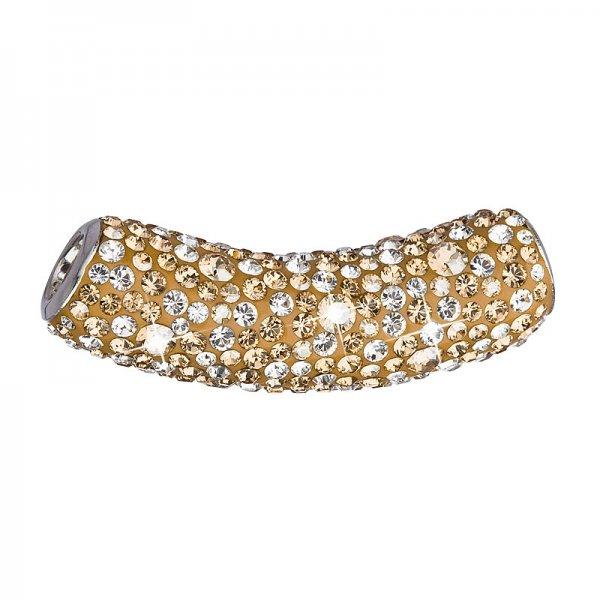 Stříbrný přívěsek s krystaly Swarovski zlatá trubička 34132.5 gold 34132.5