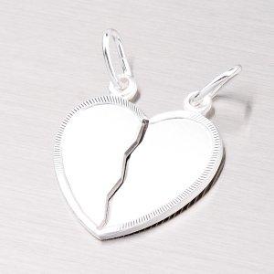 Stříbrné srdce pro zamilovaný pár M5500MRH
