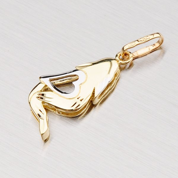 Zlatý přívěsek -  Panna 43-2069-08