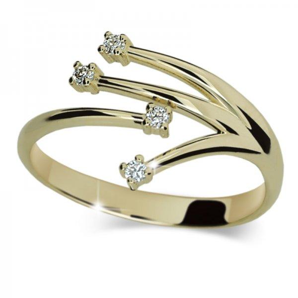 Prsten ze žlutého zlata DZ2063