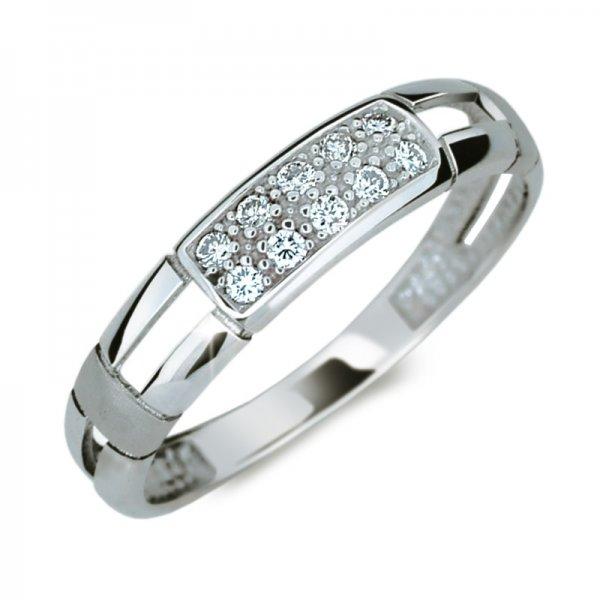 Prsten ze zlata se zirkony DZ2033B