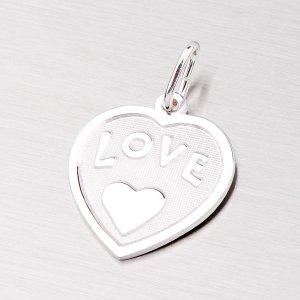 Stříbrný přívěsek ve tvaru srdce AG13-001
