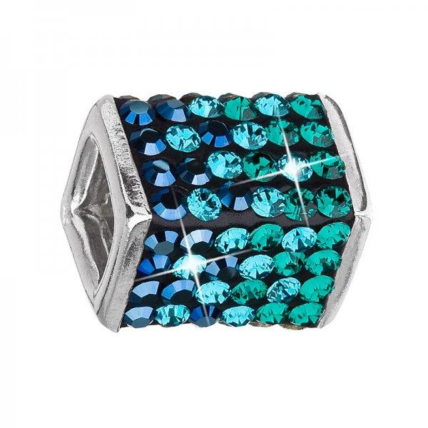 Stříbrný přívěsek s krystaly zelená kostička 34134.3 34134.3