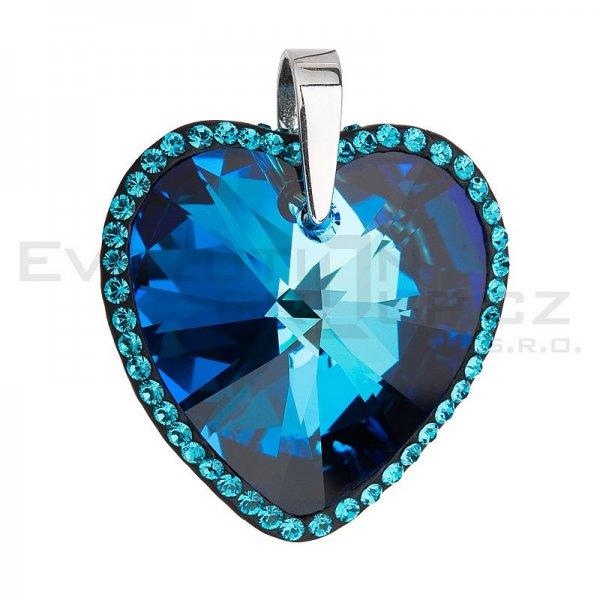Přívěsek se Swarovski ELEMENTS 34138.5 Bermuda blue