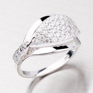 Stříbrný prsten se zirkony VAALR0677-RD-FCZ