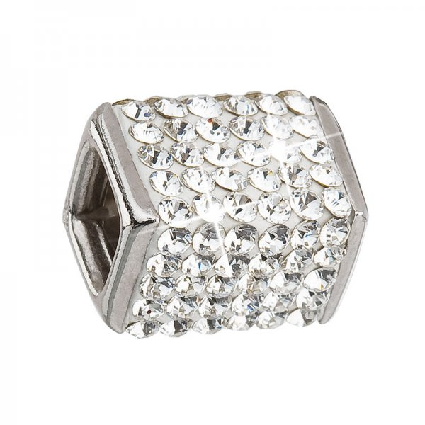Stříbrný přívěsek s krystaly bílá kostička 34134.1 34134.1
