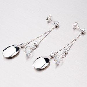 Stříbrné náušnice s krystaly YNG2040