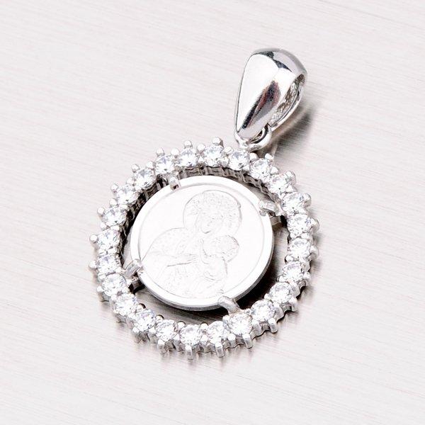 Stříbrný přívěsek s bílými zirkony MPNZ5057ZSM-15