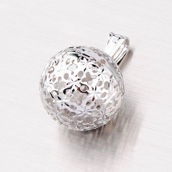 Stříbrný přívěsek ve tvaru kuličky XXDCSTP11279-RD