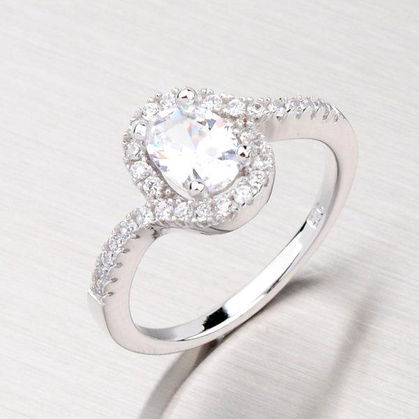 Luxusní stříbrný prsten se zirkony RXX02130007