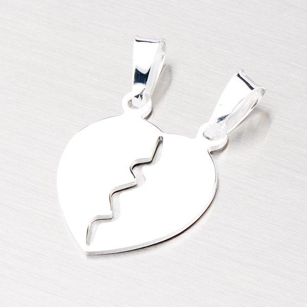 Stříbrné srdce pro zamilovaný pár YNG3023