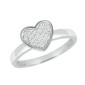 Prsten s diamanty ve tvaru srdce GKW44850